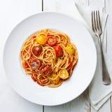 Spaghetti with tomato sauce Royalty Free Stock Photo