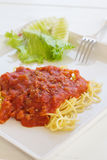 Spaghetti with tomato source. Royalty Free Stock Photography