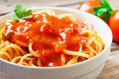 Spaghetti with tomato Royalty Free Stock Photo