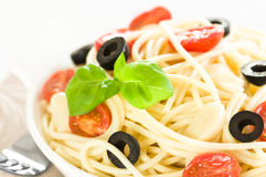 Spaghetti With Tomatoes Stock Photos
