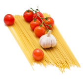 Spaghetti and tomatoes Royalty Free Stock Images
