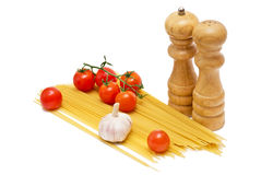 Spaghetti and tomatoes Stock Photography