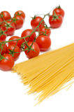 Spaghetti and tomatoes Royalty Free Stock Photography