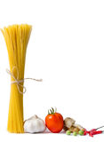 Spaghetti and tomatoes with chilli Royalty Free Stock Image