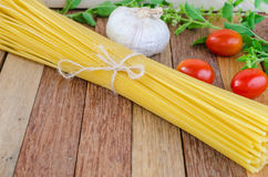 Spaghetti and tomatoes with herb Royalty Free Stock Images