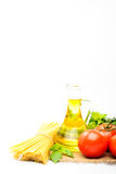 Spaghetti with tomatoes, olive oil Royalty Free Stock Photo