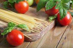 Spaghetti and Tomatoes Stock Photos