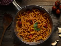 Spaghetti with tomatoes Royalty Free Stock Images
