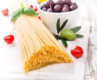 Spaghetti with tomatoes Royalty Free Stock Photos