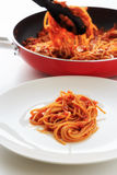Spaghetti tomatosauce Zdjęcie Royalty Free