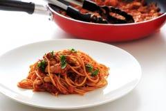 Spaghetti tomatosauce Obraz Royalty Free