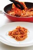 Spaghetti tomatosauce Royalty Free Stock Photo