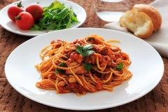 Spaghetti tomatosauce Stock Image