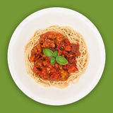Spaghetti Top with Path Royalty Free Stock Image