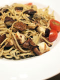 Spaghetti with Truffles and Mushrooms Royalty Free Stock Photography