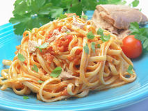 Spaghetti with tuna fish Royalty Free Stock Photography