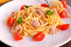 Spaghetti tuna Stock Photography