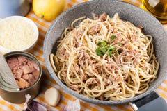 Spaghetti with tuna Stock Image