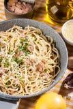 Spaghetti with tuna Stock Images