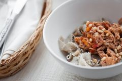 Spaghetti with tuna Stock Photo