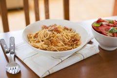 Spaghetti with tuna Royalty Free Stock Photo