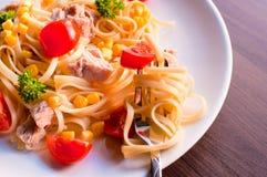 Spaghetti and tuna Stock Images