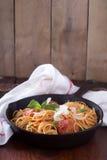 Spaghetti with turkey meatballs Stock Image