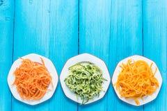 Spaghetti végétariens et sains Image libre de droits