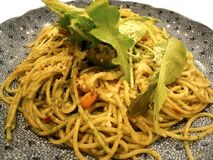 Spaghetti végétaux Photo stock
