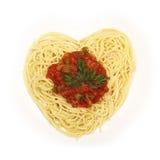 Spaghetti for Valentine's Day Stock Photo