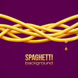 Spaghetti vector background Royalty Free Stock Photos