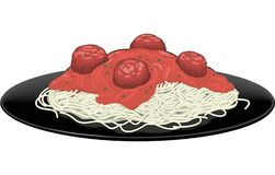 Spaghetti vectorillustratie vector illustratie