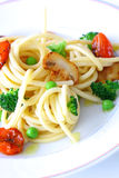 Spaghetti with vegetable Royalty Free Stock Image