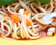 Spaghetti with vegetables Royalty Free Stock Images