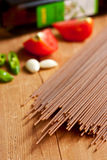 Spaghetti and vegetables Royalty Free Stock Photography