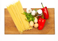 Spaghetti and vegetables Stock Photo