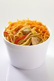 Spaghetti with vegetables and meat Royalty Free Stock Photo