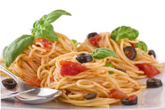 Spaghetti Vegetarian Stock Photo