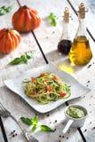 Spaghetti vegetariani Fotografia Stock Libera da Diritti
