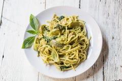 Spaghetti verdi del curry Fotografia Stock Libera da Diritti