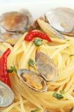 Spaghetti vongole. Pasta with clam Stock Photo