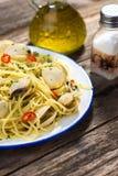 Spaghetti vongole Stock Photos