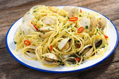 Spaghetti vongole Royalty Free Stock Photography