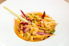 Spaghetti-würzige Meeresfrüchte Tomyam Lizenzfreies Stockbild