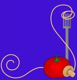 spaghetti w tle Obrazy Royalty Free