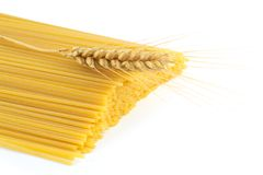 Spaghetti and wheat Stock Photography