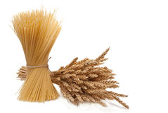 Spaghetti with wheat ears Royalty Free Stock Images