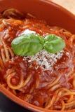 Spaghetti whit ragu bolognese Stock Photos