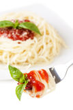 Spaghetti whit tomato Royalty Free Stock Photo