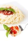 Spaghetti Whit Tomato Royalty Free Stock Photo